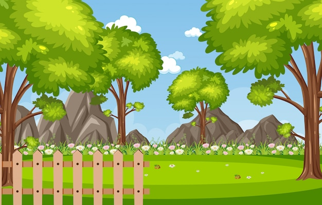 Hintergrundszene mit bäumen im park
