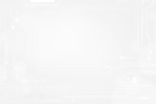 Hintergrundvektor der digitalen gittertechnologie im weißen ton