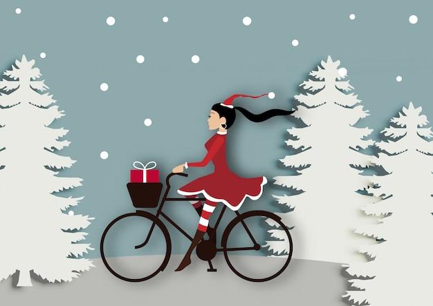 Hintergrundvektor des winterschlussverkaufs oder der frohen weihnachten