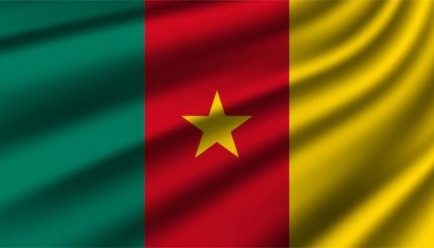 Hintergrundvorlage der flagge von kamerun.