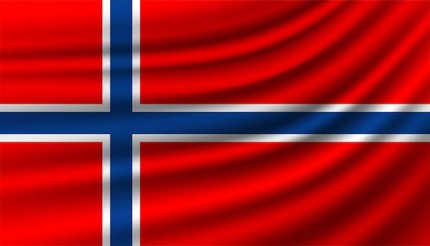 Hintergrundvorlage der flagge von norwegen.