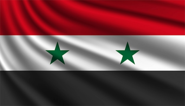 Hintergrundvorlage der flagge von syrien.
