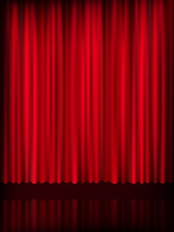 Hintergrundvorlage des roten vorhangs. datei enthalten