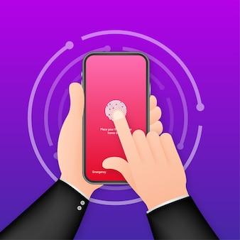 Hintergrundvorlage für das smartphone mit bildschirmsperrauthentifizierung