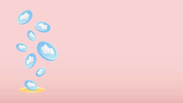 Hintergrundvorlage für soziale emoticons