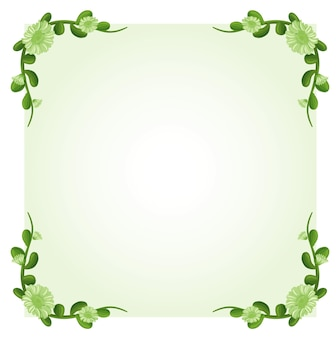 Hintergrundvorlage mit grünen blumen