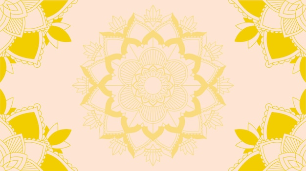 Hintergrundvorlage mit mandala-designs