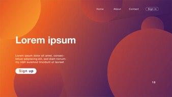 Hintergrundzusammenfassung orange hellpurpurn für homepage