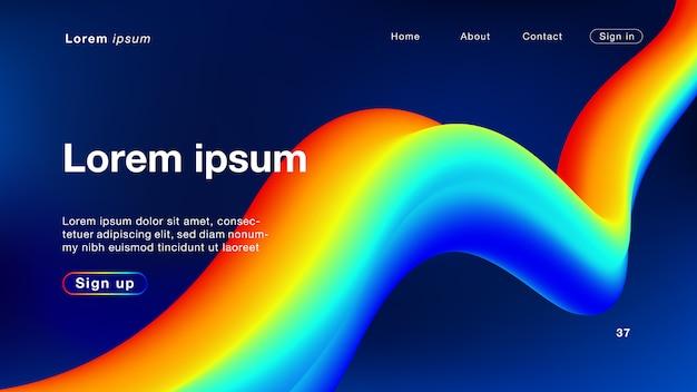 Hintergrundzusammenfassungsfarbe, die licht für homepage mischt
