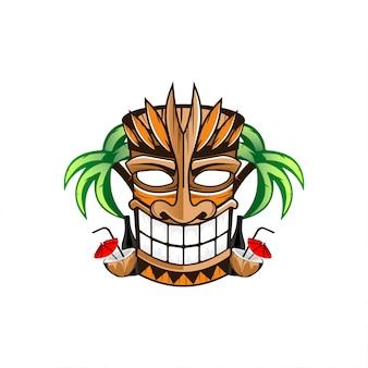 Hinterhältiges tiki-logo-design