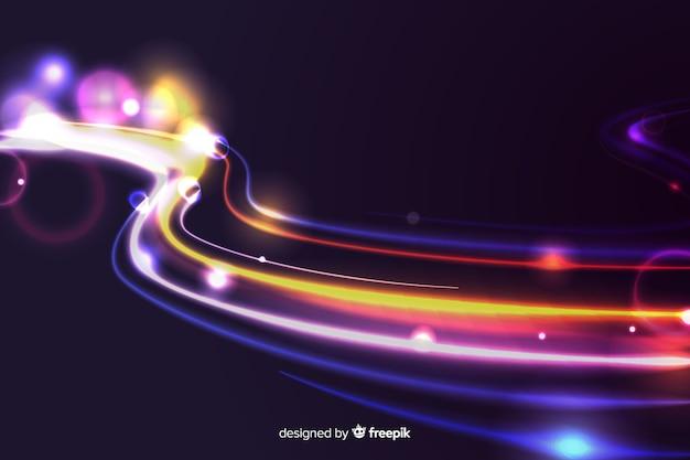 Hinterhochgeschwindigkeitshintergrund der lichter