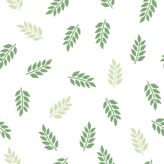 Hinterlässt ein grünes nahtloses muster. karikaturbeschaffenheit mit floraelement.