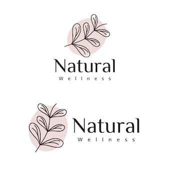 Hinterlässt ein natürliches wellness-logo-design