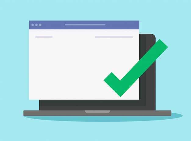 Hinweis nachricht vollständig auf der website leere leere seite auf computer laptop