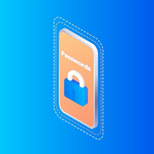 Hinweis zum passwort-sicheren login-zugriff oder authentifizierungs-verifizierungscode-hinweis-blasensymbol