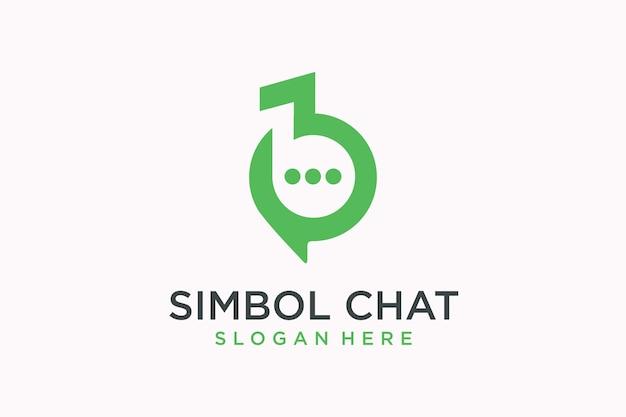 Hinweissymbol für das logo der chat-app