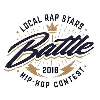 Hip-hop battle emblem