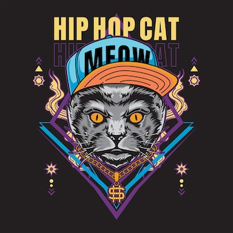 Hip hop cat