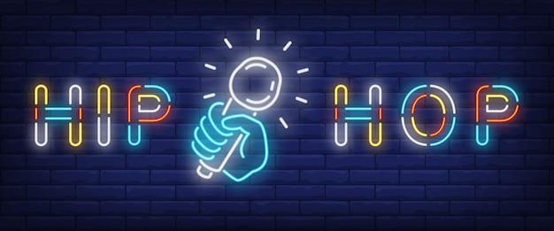 Hip-hop-neon-stil-banner