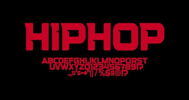 Hip-hop-schriftart mit scharfen winkeln buchstaben starkes vorstadtlogo und t-shirts typografie minimalistisch