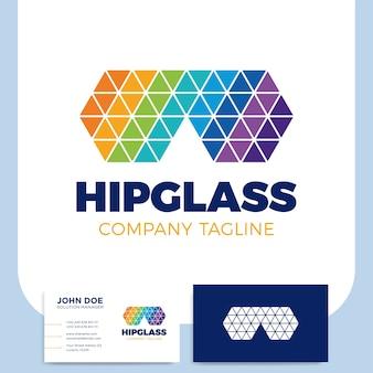 Hippie-dreieck-poly-glas-logo-symbol oder symbol