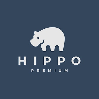 Hippo logo symbol illustration