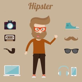Hipster-elemente-sammlung