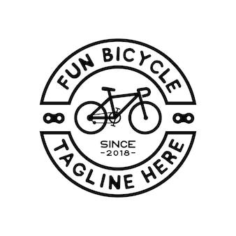 Hipster fahrrad logo design inspiration vektor