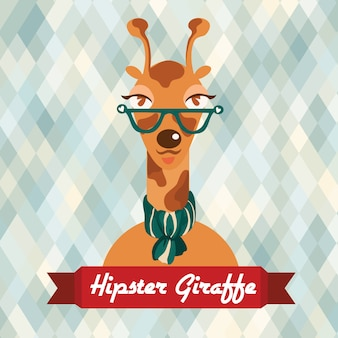 Hipster-giraffenplakat