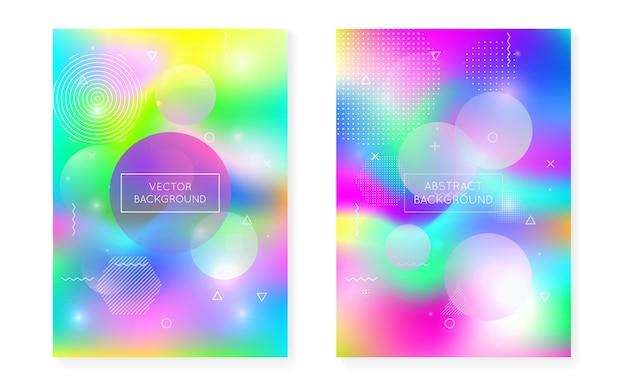 Hipster-hintergrund. regenbogenflüssigkeit. wissenschaft punkte. weicher vektor. digitale präsentation. sommerflyer. blaue glänzende textur. tech leuchtende komposition. lila hipster-hintergrund