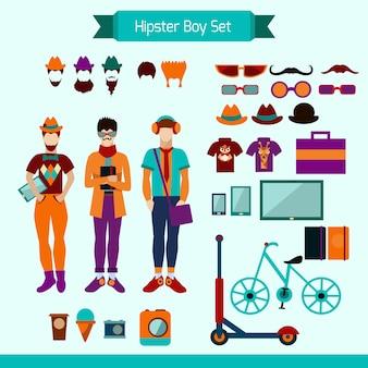 Hipster-jungen-set