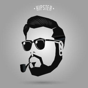 Hipster männer rohr