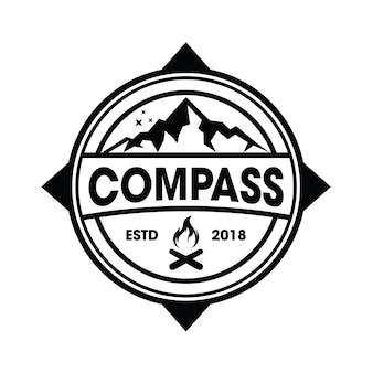 Hipster mountain und camping logo vektor