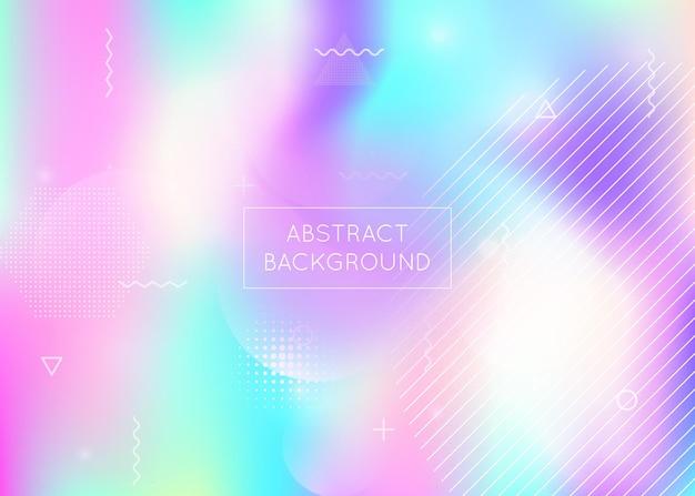 Hipster-muster. neon-fluid. trendige punkte. blue space-präsentation. abstrakte form. weicher vektor. lebendige flyer. glänzender halbton-hintergrund. violettes hipster-muster