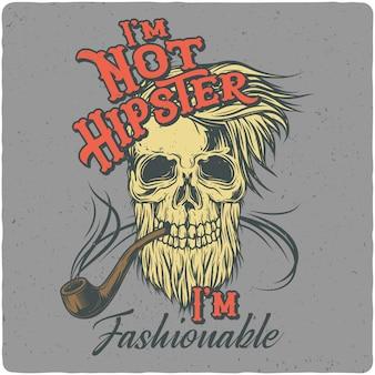 Hipster's schädel