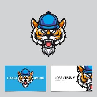 Hipster tiger e sport logo