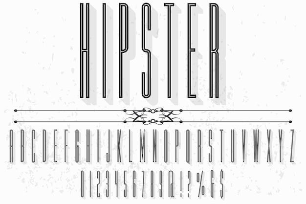 Hipster typografie