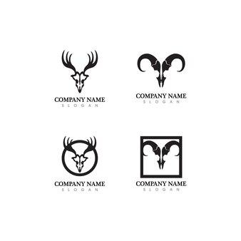 Hirsch logo vorlage vektor icon illustration design