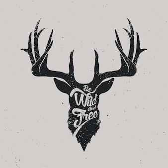 Hirsche sind wild und frei
