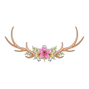 Hirschgeweih floral