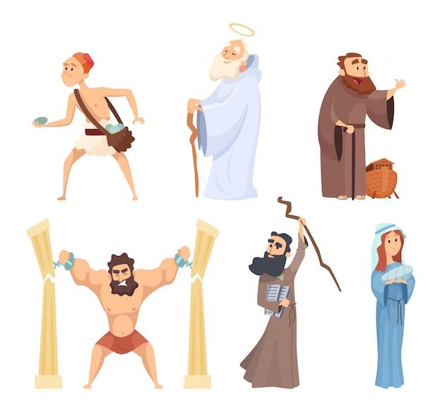 Historische illustrationen von christlichen figuren der bibel