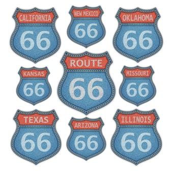 Historische route 66 aufkleber