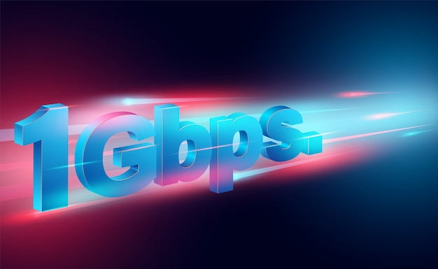 Hochgeschwindigkeits-internetkonzept in globalen breitbandnetzen geschwindigkeitsisometrisch