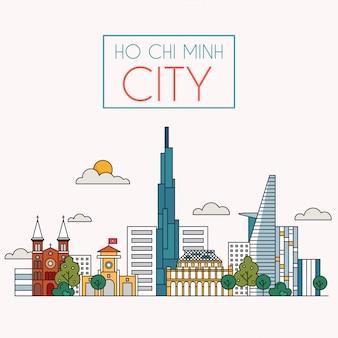 Hochiminh stadt vektor