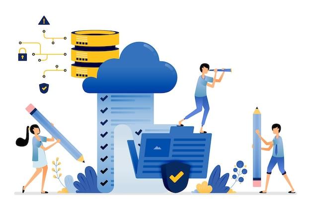 Hochladen und zugreifen auf die speicherung von umfrageergebnissen aus dem ordner zum sicheren cloud-datenbankdienst