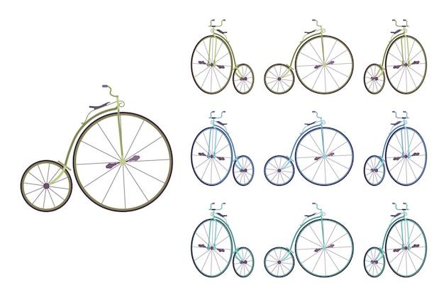 Hochrad-fahrradset
