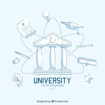 Hochschulhintergrund in der flachen art