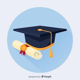 Hochschulhintergrund mit doktorhut