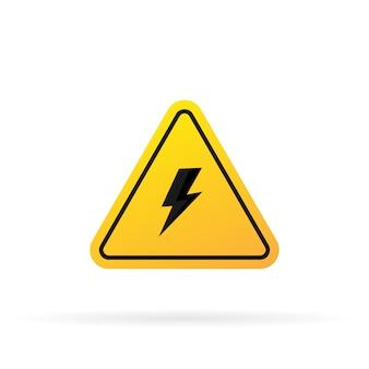 Hochspannungszeichen-risikokontrollkonzeptdarstellung