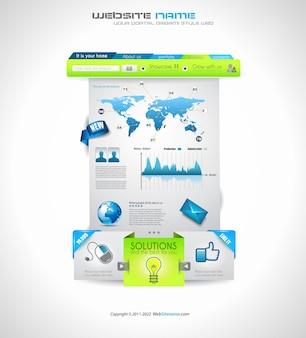 Hochwertige saubere webelemente für blogs und websites